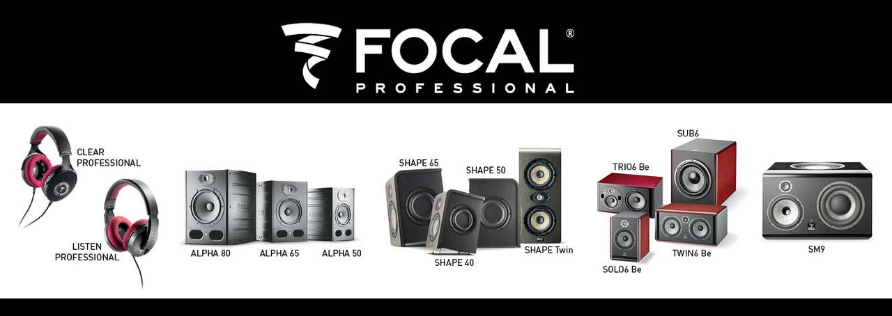 Canadian Focal Professional Representation - High Resolution Studio Monitors Digital Studio Monitors Audio Monitors Studio Speakers